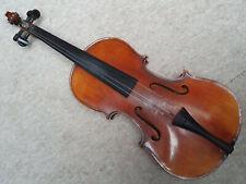"""old nicely flamed 4/4 Violin  violon! """"Stradiuarius """" needs repair"""