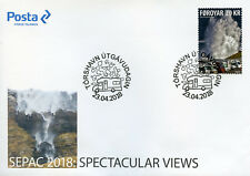 Faroes Faroe Islands 2018 Fdc Spectacular Views Sepac 1v Cover Tourism Stamps