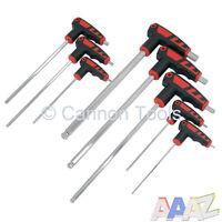 8 Pc High Torque Hex Key / Allen Key T Handle Bar Ball End Garage Tool Set
