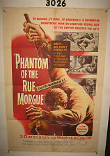 Phantom of the Rue Morgue Original 1sh Movie Poster '54 cool 3D horror!