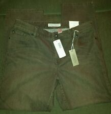 Chico's Platinim Denim Brown Slim Leg Women's 25 S Ultimate Fit