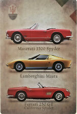 Italy car collection metal plaque Classic Lamborghini Ferrari Maserati tin sign