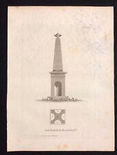 Antigüedad 1800 impresión architechural constructores diseño de revista para un obelisco LXXI
