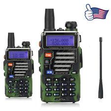 2x Baofeng UV-5R Plus Qualette Camouflage 136-174/400-520 MHz Ham Two-Way Radio