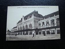 FRANCE-carte postale lyon (nouvelle gare de geneve et des brotteaux)(cy90)french