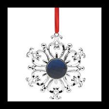 LENOX BEJEWELED SNOWFLAKE SILVERPLATE ORNAMENT FACETED BLUE CRYSTAL NIB