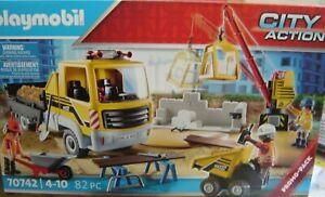 "Playmobil 70742 Baustelle mit Kipplaster ""Neu""(181)"