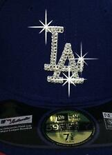 CUSTOM HAND MADE New Era LA DODGERS BLING FITTED On FieId Cap Swarovski Elements