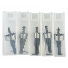 5PCs HSS Drill Bit Hole Saw Set Stainless Steel Metal Alloy 16-30mm