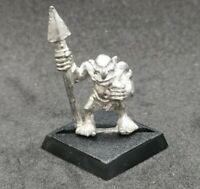 Warhammer Fantasy Goblin Marauder MM30 GOB 4 Metal OOP 1988 Spear Spearman