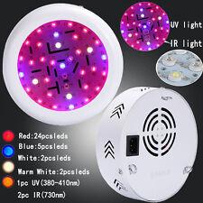 Double Chip Full Spectrum UFO 360W 36LED Plant Grow Light Hydroponics Lamp IR/UV