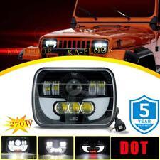 7x6 5x7 270W LED Headlight Hi/Lo Beam for Jeep Wrangler YJ Cherokee XJ 6052 6053