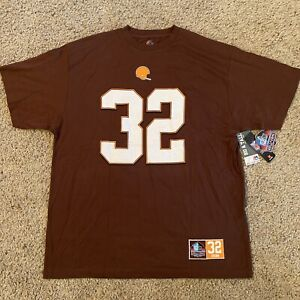 NEW Jim Brown Cleveland Browns Majestic Shirt Jersey Hall Of Fame Big & Tall 2XL