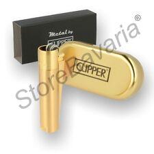 Clipper Feuerzeug Lichtbogen Sturmfeuerzeug Gas Neu Gold In Gift Box