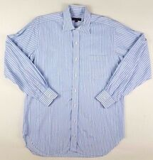 ROBERT Talbott 15 1/2 34 STRIPED Blue WHITE Cotton MENS Size SZ Spread COLLAR***