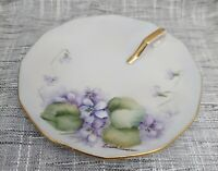 Vintage Handpainted Candle Holder with Finger Loop & Drip Tray Lucille Simpson