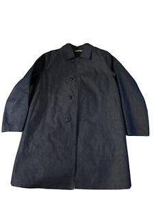 Mackintosh Coat x Todd Snyder 40R Navy / Denim Reversible Made In Scotland