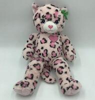 "Build A Bear Workshop BABW Pink Leopard Cheetah Cat Stuffed Plush Animal Toy 20"""