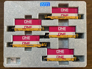 Kato 106-6196 N Gunderson MAXI-I Double Stack Car TTX New Logo Mix Of Containers