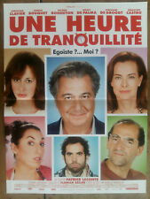 Affiche UNE HEURE DE TRANQUILLITE Patrice LECONTE Christian CLAVIER  40x60cm