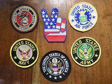 """LOT OF 6 Patches --> Includes Army Navy Marines Air Force Presidential Seal 3"""""""