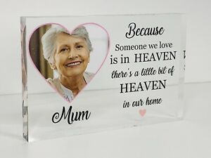 Personalised Mum, Mother In Loving Memory Photo Acrylic Block, Remembrance Gift