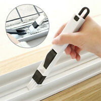 2 In 1 Polished Window Track Cleaning Brush Keyboard Nook Cranny Dust Shovel、New