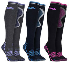 Storm Bloc - Ladies Long Knee High Wool Blend Thermal Equestrian Riding Socks