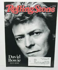 David Bowie Tribute, Rolling Stone Magazine Feb.11,2016