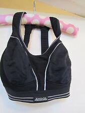 Black & Silver Shock Absorber Sports Bra in Size 30 D
