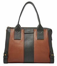NEW Fossil Gwen Satchel CB Brown Bag ZB6995200 Leather Handbag Purse Bag $248