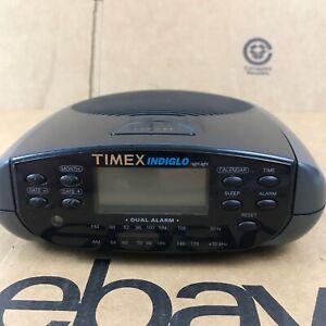 Timex Indiglo T433B Dual Alarm FM/AM Calendar Clock Radio - Tested 2.A4
