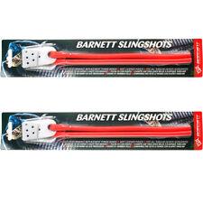 2 x RED BARNETT SLINGSHOT CATAPULT POWER BANDS COBRA BLACK WIDOW SPARE RUBBER
