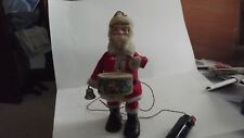 VINTAGE BATTERY OPERATED SANTA BEATS DRUM, RINGS BELL AND WALKS-JAPAN