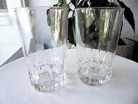 "Set of 2 Atlantis Lisbon Clear Crystal Highball Glasses 5 3/8"" Tall"
