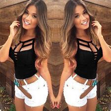 Sexy Women Summer Vest Top Sleeveless Blouse Casual Tank Tops T Shirt