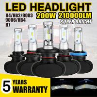 2 x H7/H4/HB2/9003/9006/HB4 LED Headlight Kit 8000K Power Lamp Beam Bulb VS HID