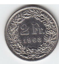 2 Schweizer Franken 1968 G Münze vorzüglich Best.-Nr. 6