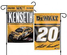 """Matt Kenseth #20 Double Sided DeWalt Garden Flag NASCAR 12"""" X 18"""""""