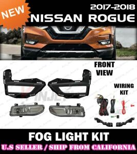 for 17 18 19 20 NISSAN ROGUE Fog Light Driving Lamp Kit w/ switch wiring (CLEAR)
