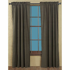 "KETTLE GROVE WINDOW PANEL SET 84"" x 40"" : COUNTRY BLACK TAN PLAID CURTAIN DRAPES"