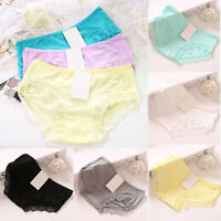 Women's Soft Lace Underpants Underwear Knickers Cotton Panties Briefs Lingerie