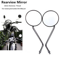Connvex Lens Clear View Handlebar Mirrors Moped Mobility Scooter EBike Motorised