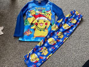 Boy pyjamas POKEMON pikachu 6-7 Years character nightwear, long pjs