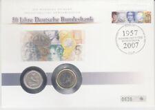 D. Numisbrief   Deutschland  50 Pfennig + 1 Euro  Deutsche Bundesbank  2007