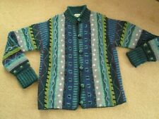 Agan Traders 100/% Lambs Wool Knitwear 14 AW 82 Womens Button Down Collar Sweater Cardigan
