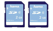 Pack of 2 Hama 2GB 10MB/s Class 4 High Speed SD Cards