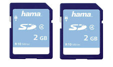2 x Hama 2GB 10MB/s Class 4 High Speed SD Cards