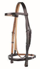 "Jeffries Full Size 5/8"" Havana Raised 7888453 Snaffle Traditional Bridle HPS"