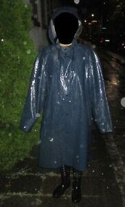 Regenmantel Gummi PVC Mantel Friesennerz Ölzeug Rubber Raincoat